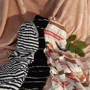 3 Maternity Dresses Old Navy Sz L